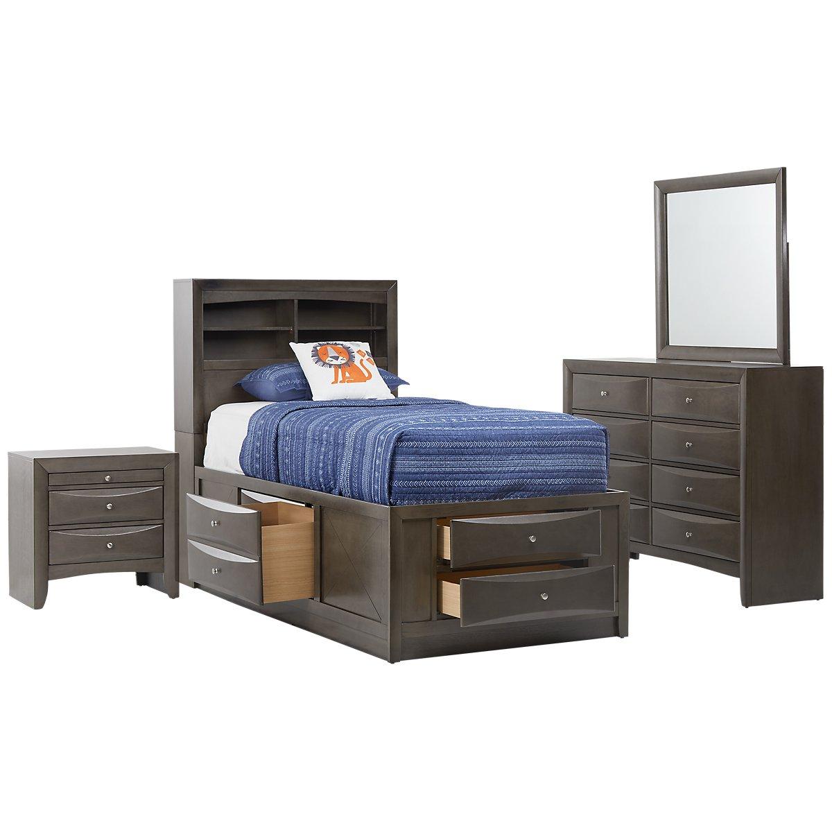 tanner gray wood panel storage bedroom  bedroom  bedroom