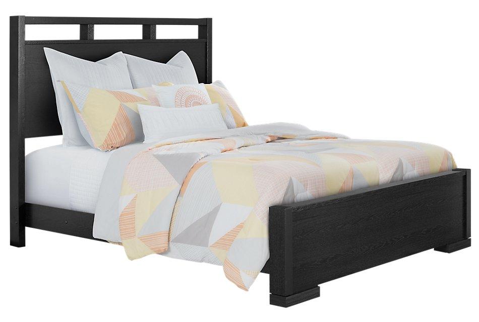 Sutton Dark Tone  Panel Bed
