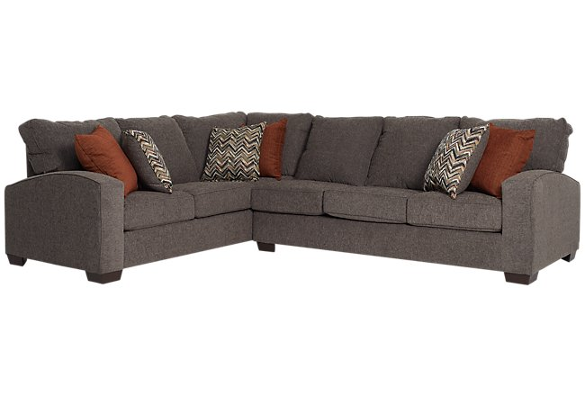 Chase Dark Gray Micro Two Arm Sectional
