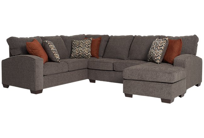 Chase Dark Gray Micro Large Right Chaise Sectional
