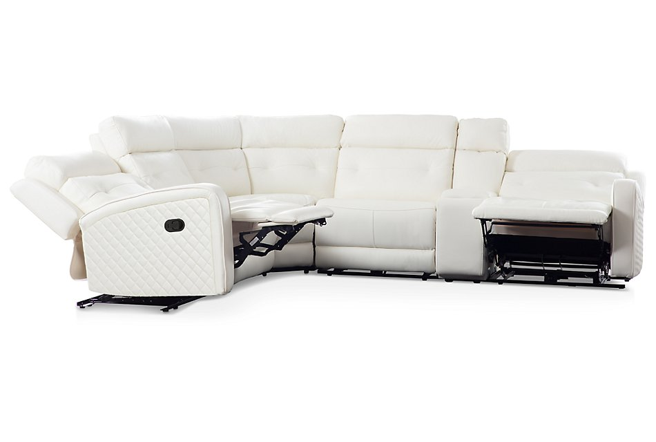 Mccoy WHITE MICRO Two-Arm Manually Reclining Sectional