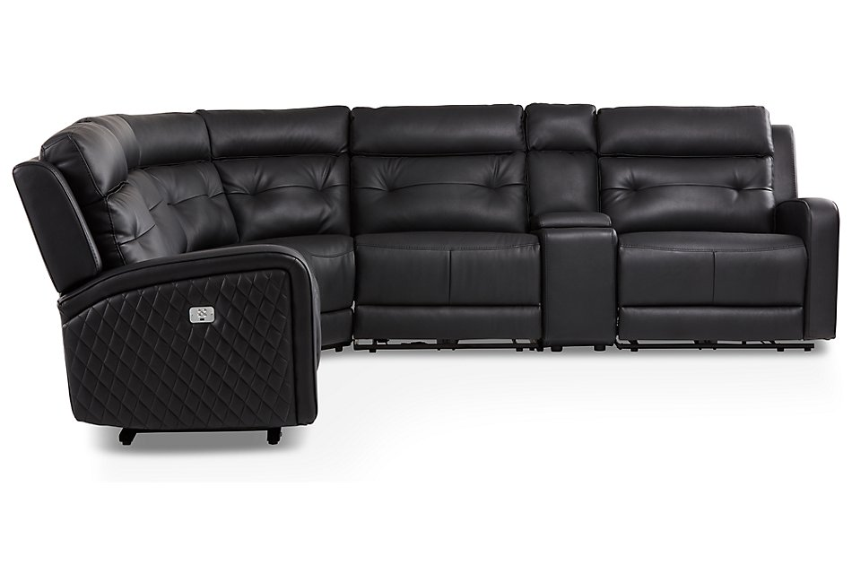Mccoy BLACK MICRO Small Triple Power Reclining Two-Arm Sectional