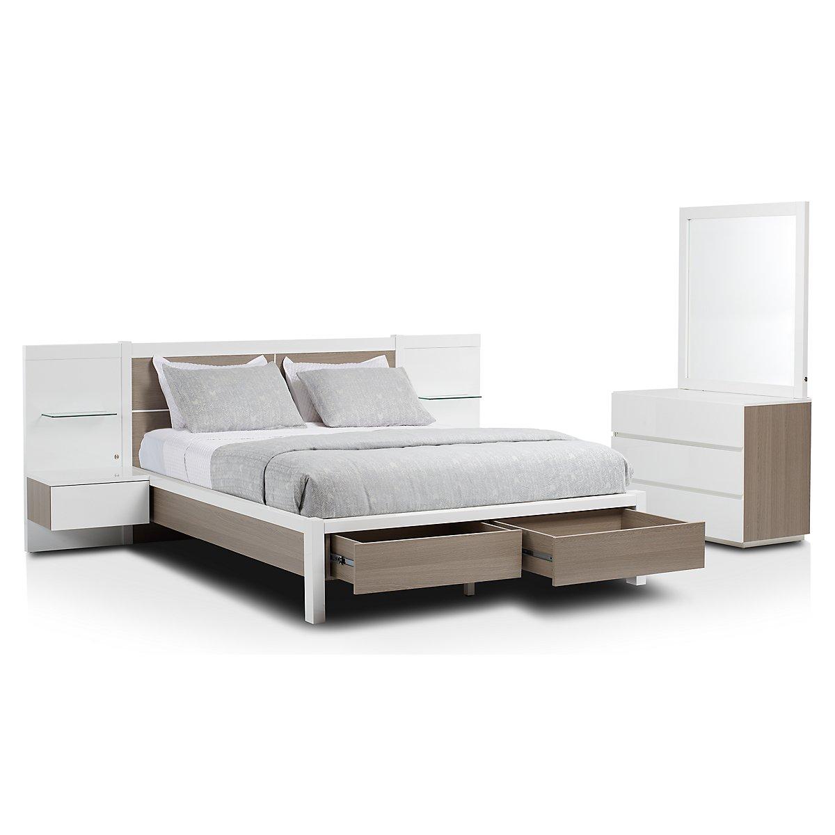 Pesaro Two-Tone Spread Storage Bedroom | Bedroom - Bedroom Sets ...