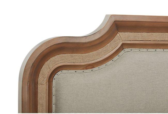 Stratum Light Tone Upholstered Panel Bed
