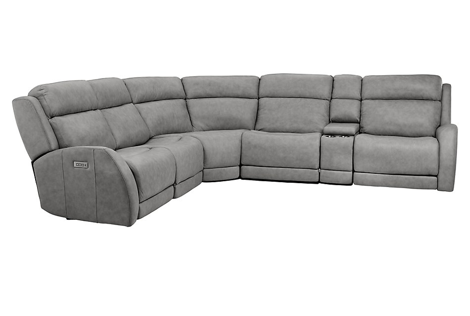 Surprising Rawlings Dark Gray Leather Medium Dual Power 2 Arm Reclining Andrewgaddart Wooden Chair Designs For Living Room Andrewgaddartcom