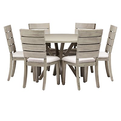 Sienna Gray Table 4 Slat Chairs