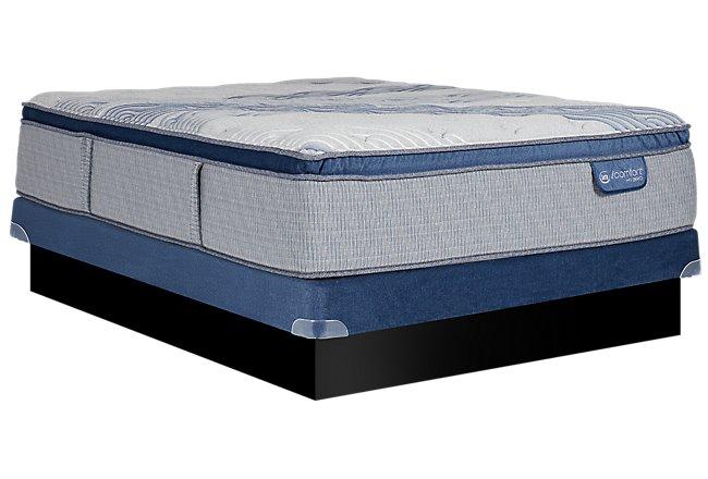 Serta iComfort Blue Fusion XLS 1000 Plush Hybrid Low-Profile Mattress Set