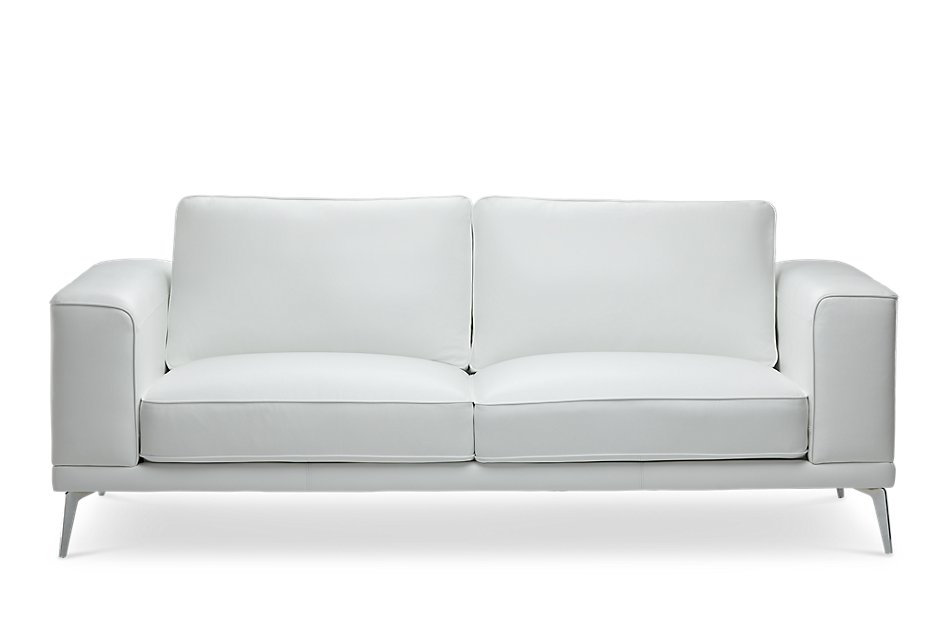 Marvelous Naples White Leather Sofa With Metal Legs Living Room Uwap Interior Chair Design Uwaporg