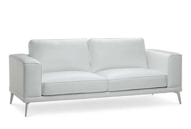 Pearson White Leather Sofa | Living Room - Sofas | City ...