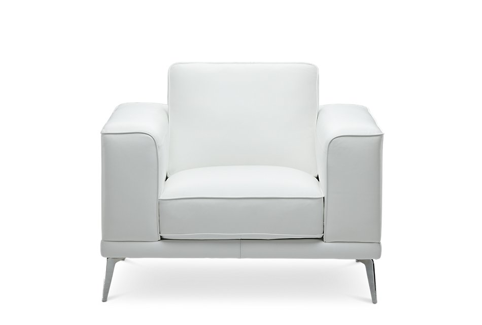 Magnificent Naples White Leather Chair With Metal Legs Living Room Unemploymentrelief Wooden Chair Designs For Living Room Unemploymentrelieforg