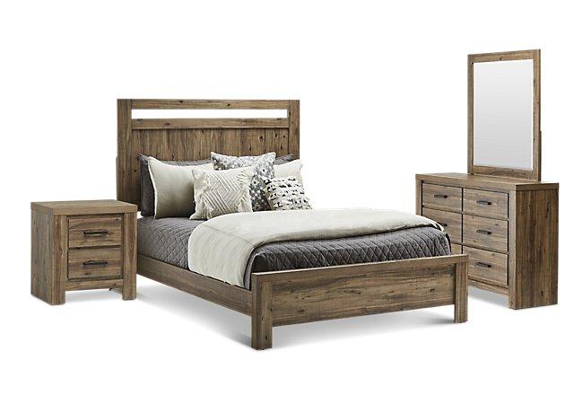 Forest Light Tone Wood Panel Bedroom