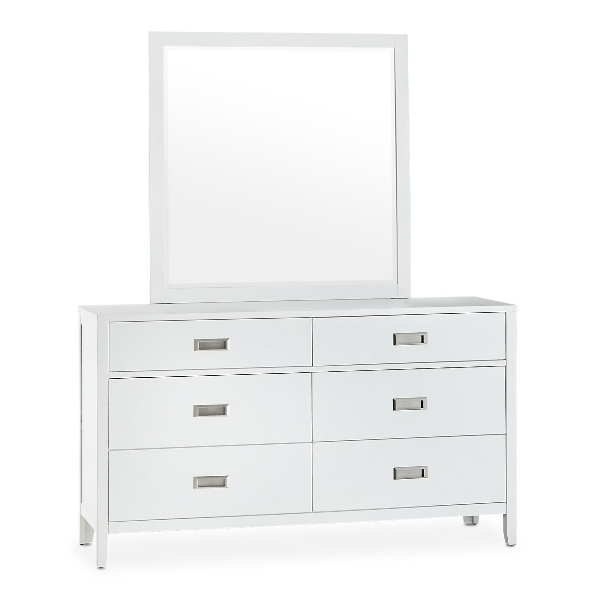 Chatham White Wood Dresser & Mirror | Bedroom - Dressers ...