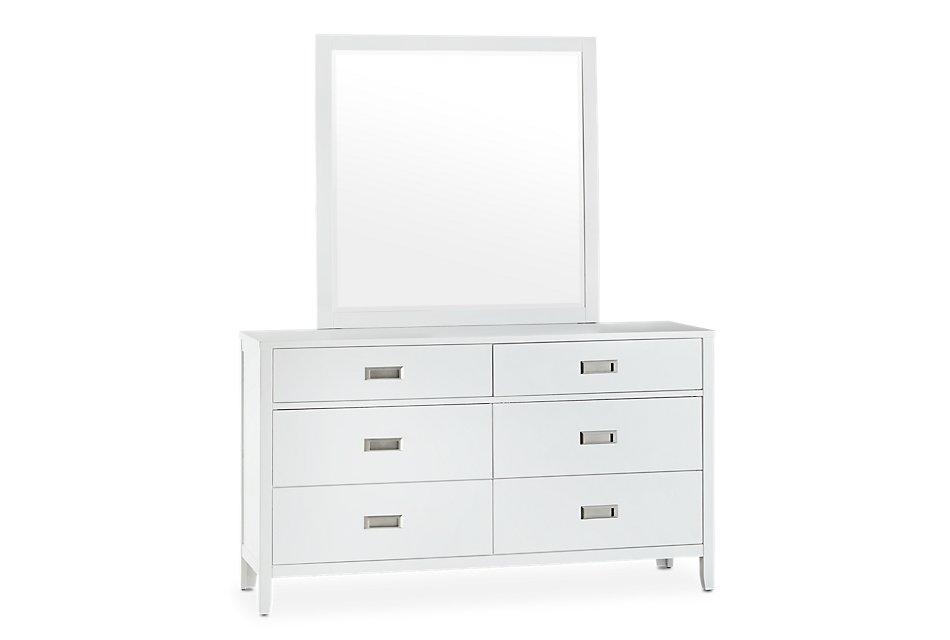 Chatham White Dresser & Mirror   Bedroom - Dressers ...