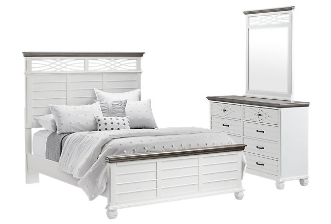 Bellbrook White Wood Panel Bedroom