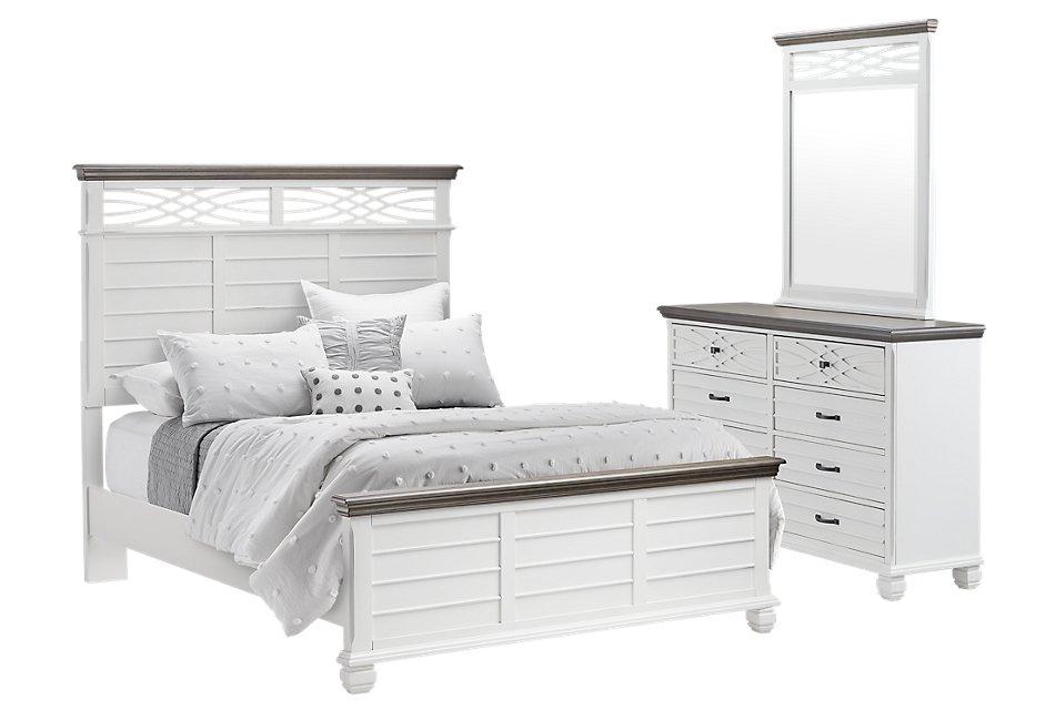 Bellbrook White  Panel Bedroom