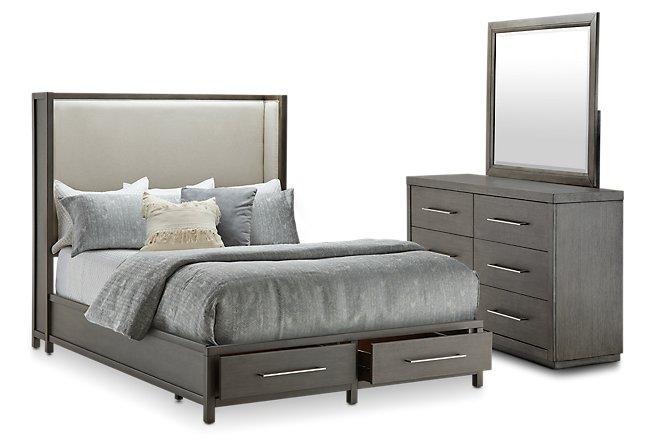 Toronto Dark Tone Uph Platform Storage Bedroom