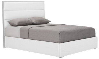 Superieur Cortina2 White Upholstered Platform Bed | Bedroom   Beds | City Furniture