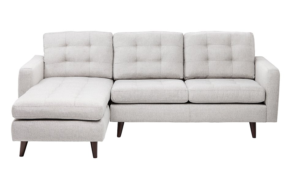 Gwen Light Taupe  FABRIC Left Chaise Sectional