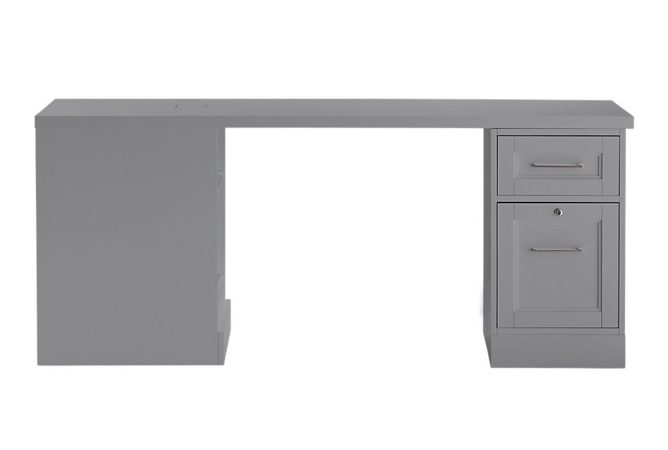 Newport Gray  Peninsula Desk