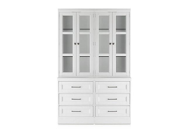 Newport White Drawer Bookcase