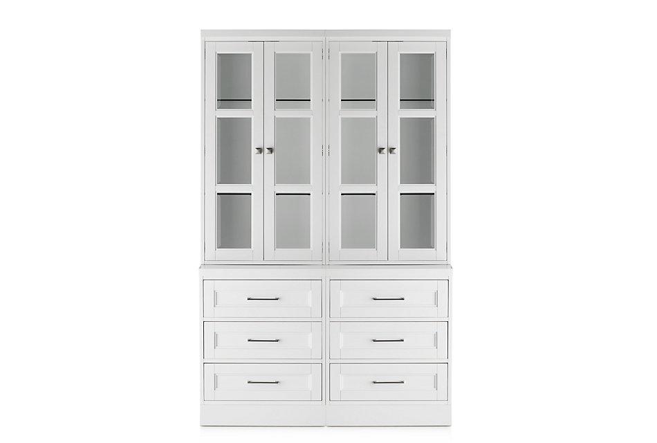 Newport White  Drawer Bookcase