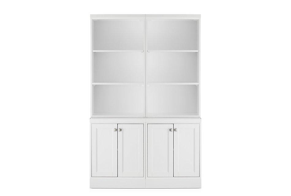 Newport White  Door Bookcase