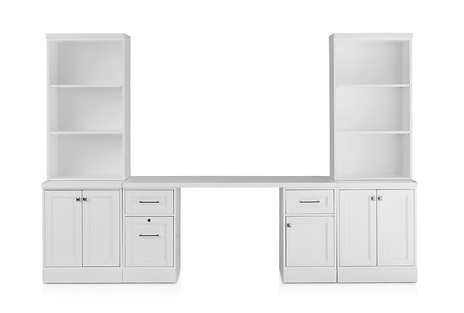Newport White  Door Wall Desk