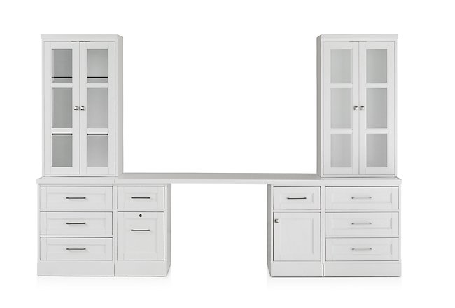 Newport White Drawer Wall Desk
