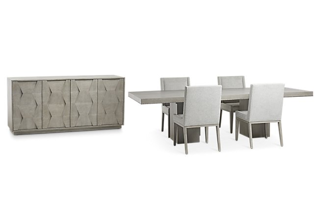 Linea Light Tone Dining Room