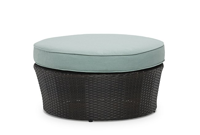 Fina Teal Woven Canopy Daybed