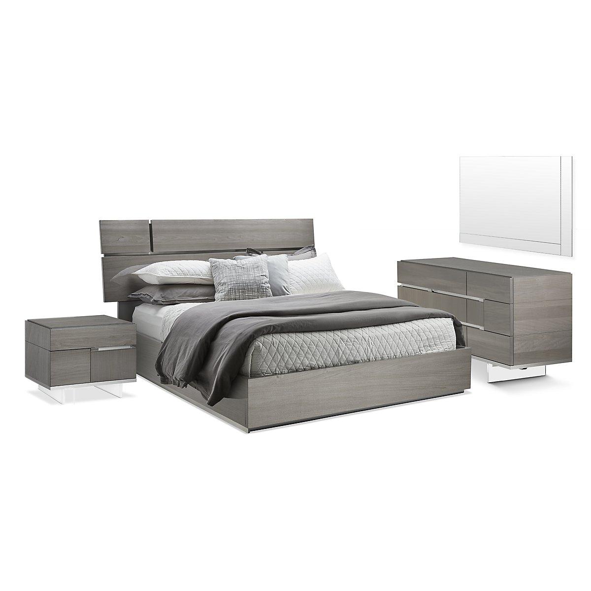 athena dark gray wood platform bedroom  bedroom  bedroom
