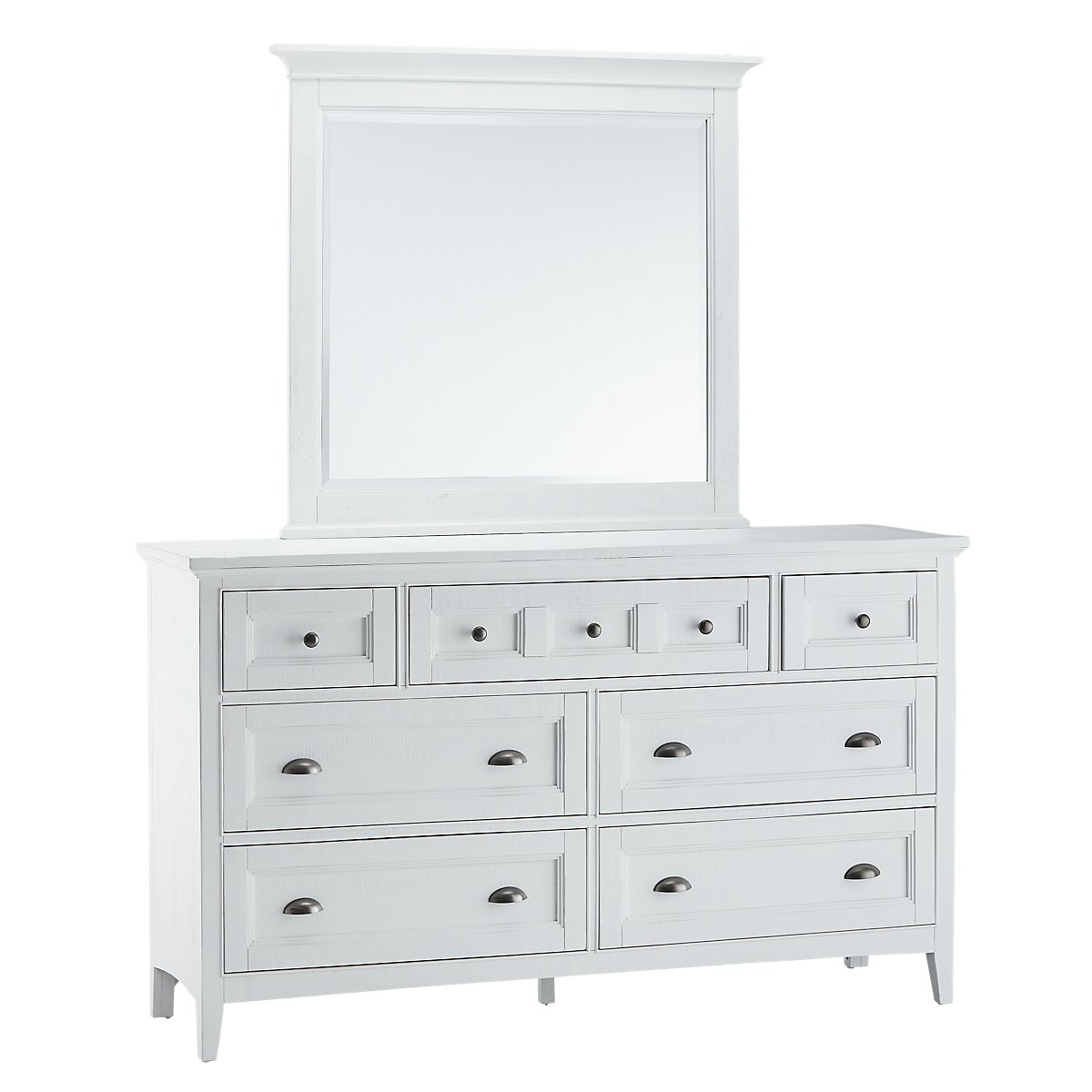 Heron Cove White Dresser Mirror
