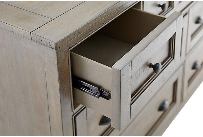 Heron Cove Light Tone Wood Dresser & Mirror
