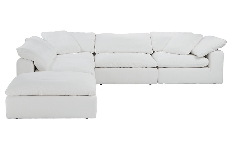 Prime Nixon White Fabric Sectional Living Room Sectionals Ibusinesslaw Wood Chair Design Ideas Ibusinesslaworg