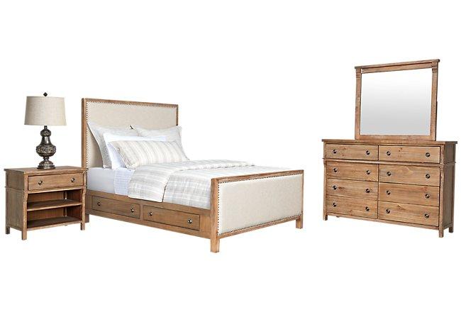 Colette2 Light Tone Uph Panel Storage Bedroom