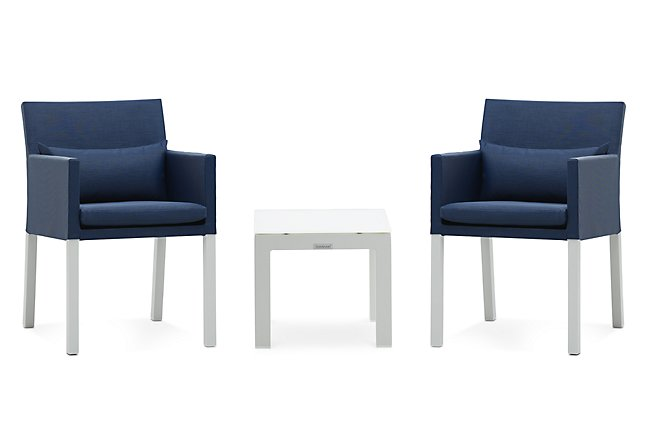 Lisbon Navy Large Outdoor Chat Set