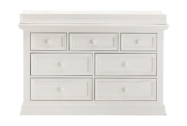Glenbrook White Wood Dresser with Changing Top