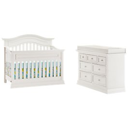 Glenbrook White Wood Crib Bedroom