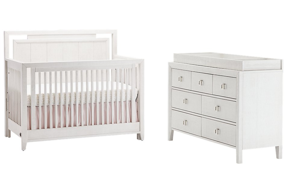 Ashton Ivory Small Crib Bedroom