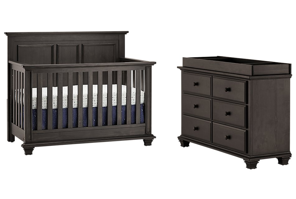 Kenilworth Dark Tone Small Crib Bedroom
