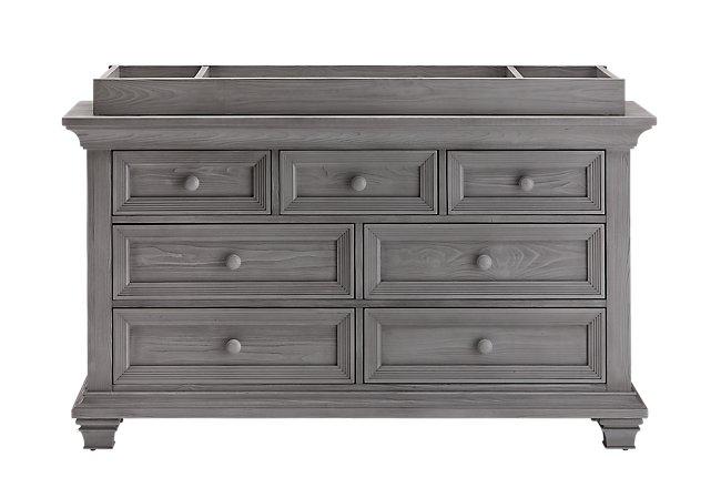 Westport Light Gray Wood Dresser with Changing Top