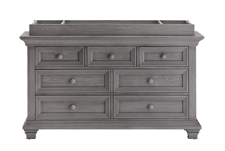Westport Light Gray   Dresser with Changing Top