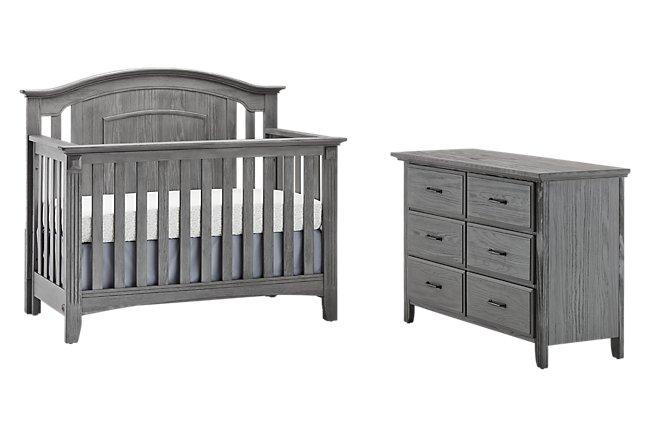Willowbrook Gray Crib Bedroom
