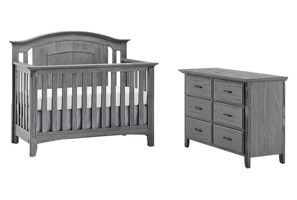Willowbrook Gray  Crib Bedroom