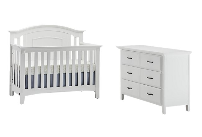 sharp groovy white bedroom inspiration furniture | Willowbrook White Crib Bedroom | Baby & Kids - Cribs ...