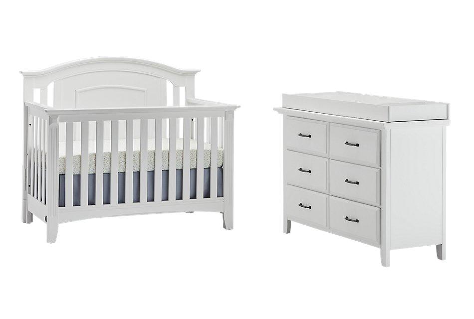 Willowbrook White Crib Bedroom