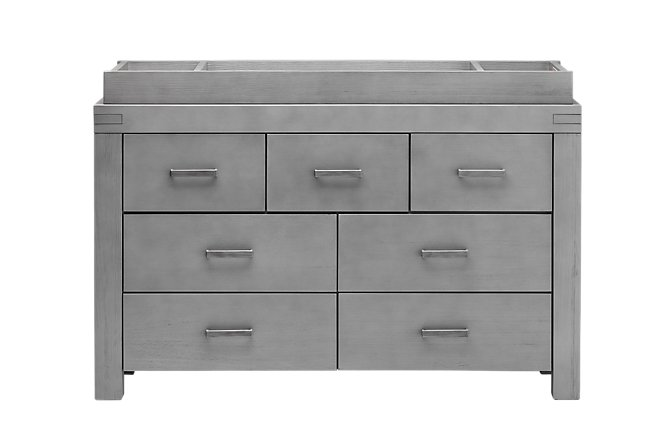 Piermont Gray Wood Dresser with Changing Top