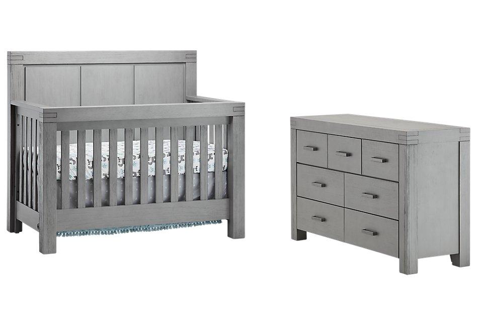 Piermont Gray  Crib Bedroom