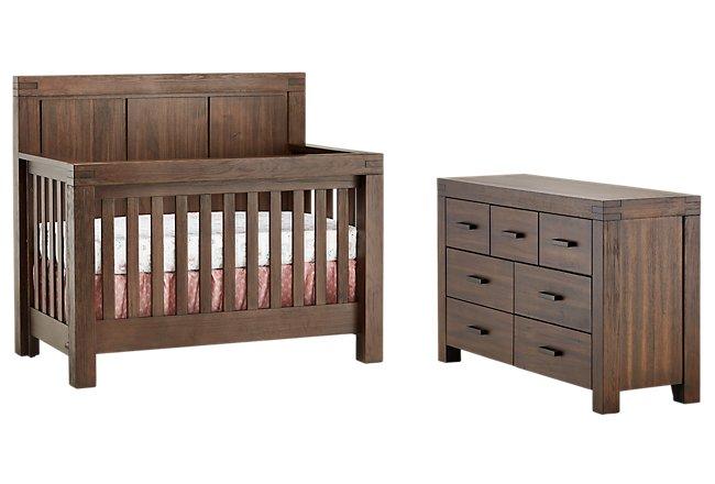 Piermont Mid Tone Wood Crib Bedroom