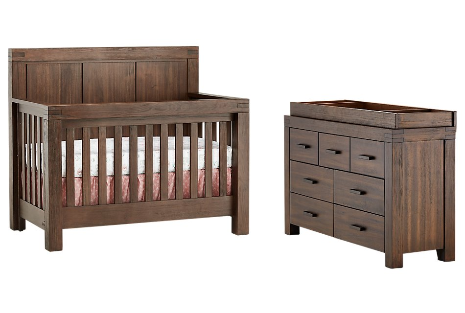 Piermont Mid Tone Small Crib Bedroom